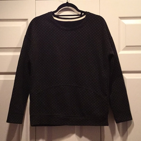 LULULEMON crew polka dot sweater avail until 11/22